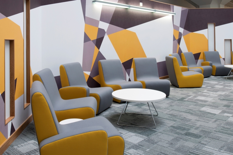 Colourful meeting area