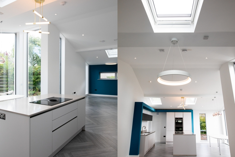 Greenbank Kitchen extension with sky light