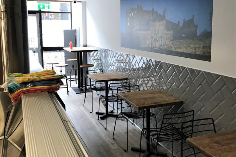 Restauraunt, Edinburgh Seating area