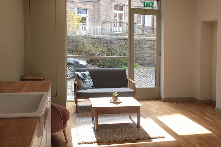 Art Studio, Edinburgh - Window view